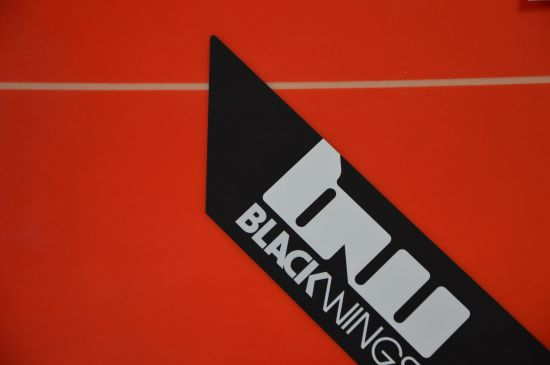 BlackWings 8'2 FISH 8BALL color ROUGE LOGO NOIR