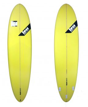BlackWings 7'2 EGG FUNBOARD color JAUNE LOGO NOIR