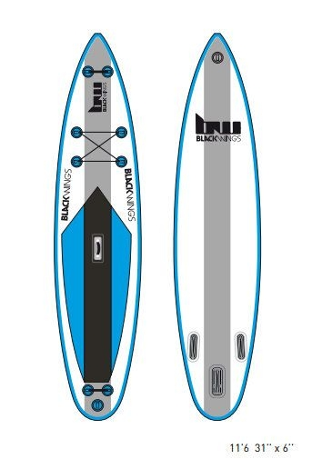 "SUP gonflable BW training 11'6 x 31"" x 6"""