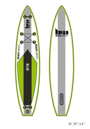 "SUP gonflable BW ultra 14'0 x 31"" x 6"""